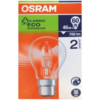 Osram  Eco Classic Halogen Light Bulbs 46W - 3 for 2 Pack