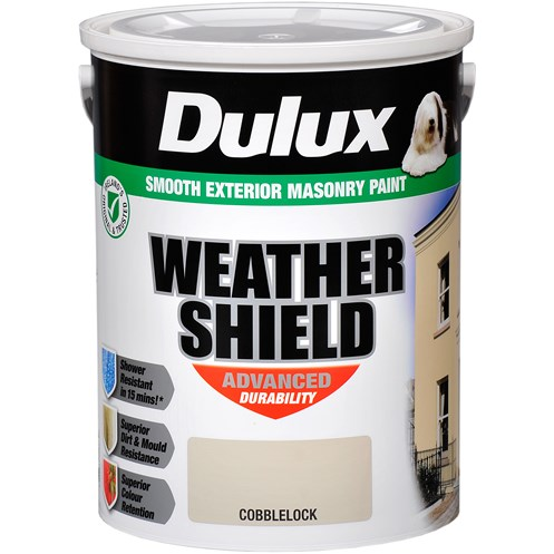 Dulux Weathershield Masonry Colours Paint - 5 Litre