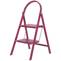 Abru  2 Tread Steel Step Stool - Pink