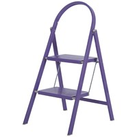 Abru  2 Tread Steel Step Stool - Purple