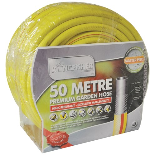 Kingfisher  Gold Yellow Reinforced Garden Hose - 50m