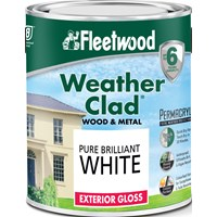 Fleetwood Weather Clad Exterior Gloss Brilliant White Paint - 2.5 Litre