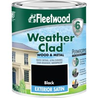 Fleetwood Weather Clad Exterior Gloss Black Paint - 2.5 Litre