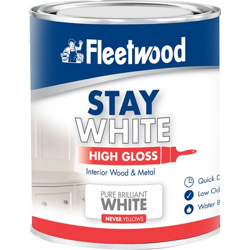 Fleetwood Stay White High Gloss Pure White Paint - 750ml