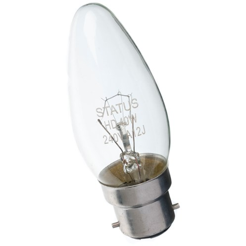 Status  Incandescent Candle Light Bulb - 40W BC