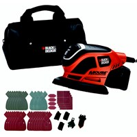 Black & Decker  KA1000 Mouse Detail Sander with 22 Accessories - 230V