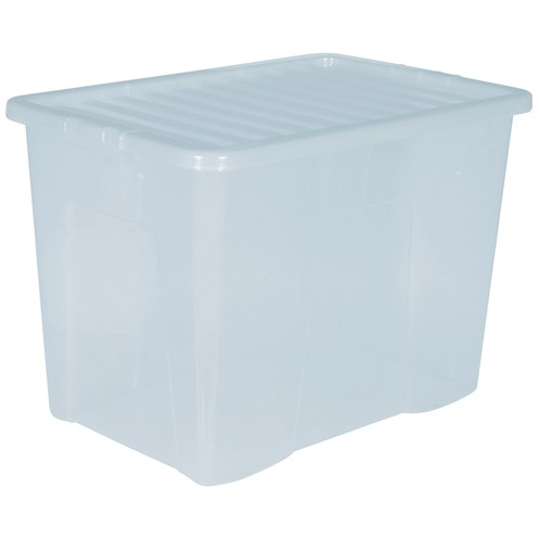 Wham  Crystal Storage Box & Lid Clear - 80 Litre