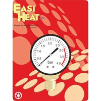 Easi Heat  1/4in Bottom Inlet Pressure Gauge