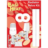 Easi Heat  Angle Pattern Thermostatic Radiator Valve Kit - 1/2in