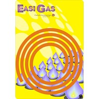 Easi Gas  Orange Rubber Gas Hose - 1.2m