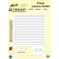 Airstream  Fixed Louver Outlet - Brown