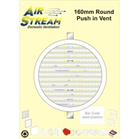 Airstream  160mm Round Push-in Vent