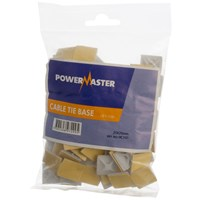 Powermaster  Cable Tie Base White - 20 x 20mm