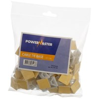 Powermaster  Cable Tie Base White - 25 x 25mm