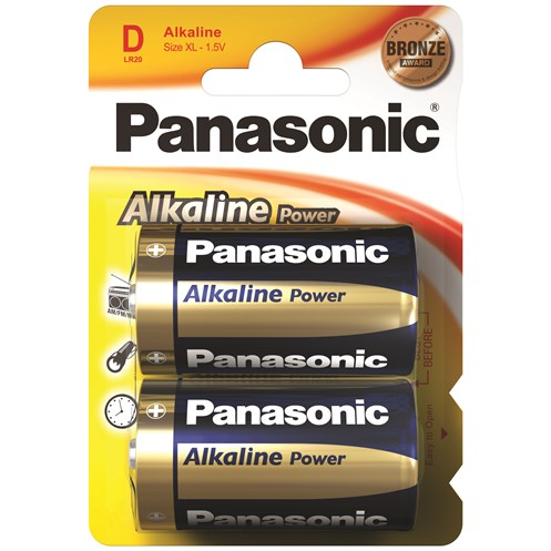 Panasonic  Alkaline Power Batteries - D