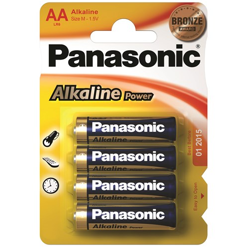 Panasonic  Alkaline Power Batteries - AA