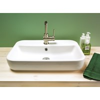 Caspia Square Countertop Washbasin 1 Taphole