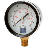 Rigamonti  10 Bar Pressure Gauge with Bottom Entry - 1/4in