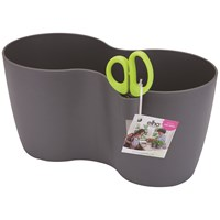 Elho Brussels Small Herb Duo Pot - Anthracite